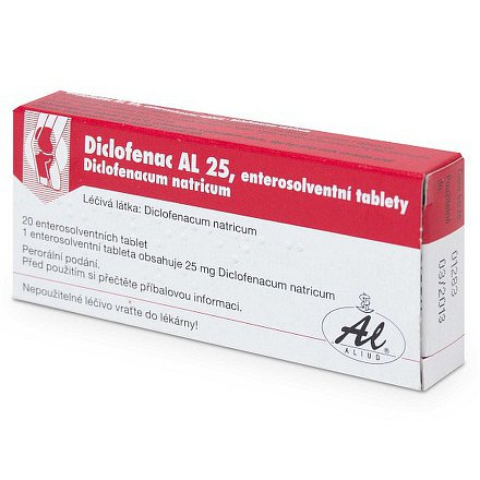 Diclofenac AL 25 tablety 20 x 25mg