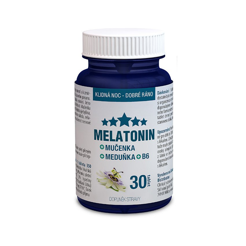 Melatonin Mučenka Meduňka B6 tbl.30 Clinical