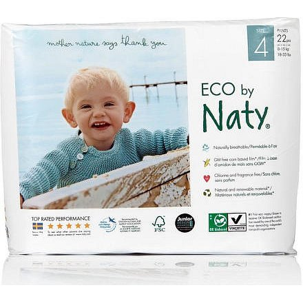 Natahovací plenkové kalhotky Naty Nature Babycare Maxi 8 - 15 kg (22 ks)