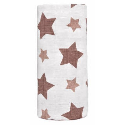BIO Velká bambusová osuška, beige stars / béžové hvězdičky