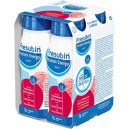 Fresubin protein energy jahoda perorální roztok  4 x 200 ml