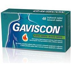 Gaviscon žvýkací tablety por.tbl.mnd. 48