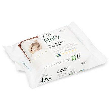 Vlhčené ubrousky Naty Nature Babycare bez vůně - pro citlivou pokožku (20 ks)