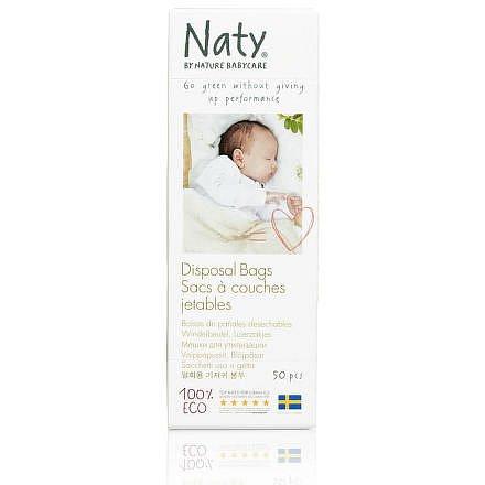 Sáčky na plenky Naty Nature Babycare bez vůně (50 ks)