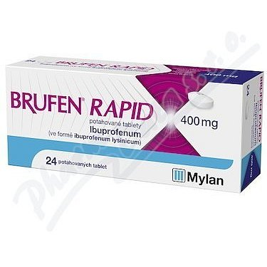Brufen rapid 400mg potahové tablety 24ks