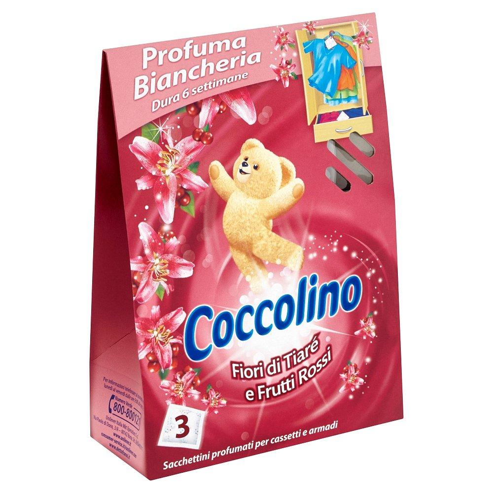 COCCOLINO vonné sáčky Fiori di Tiaré e Frutti Rossi 3 ks