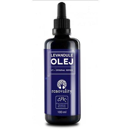 Masážní a tělový olej Levandule Renovality 100 ml