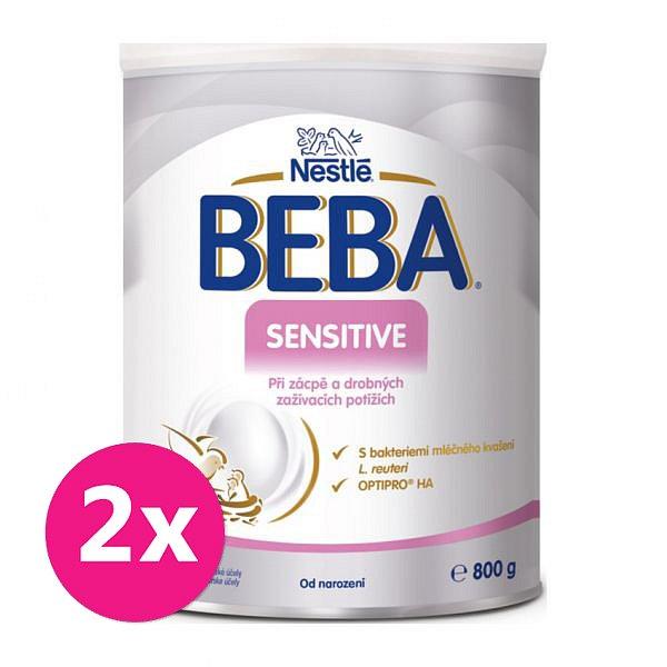 2x BEBA SENSITIVE, mléčná kojenecká výživa 800 g