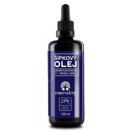 Šípkový olej za studena lisovaný Renovality 100 ml