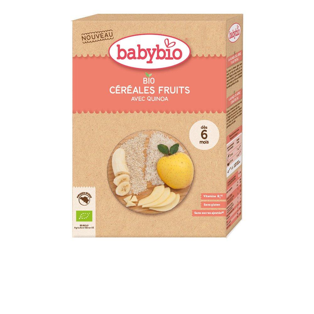 Babybio Nemléčná rýžová bio kaše s quinoou a ovocem 200g