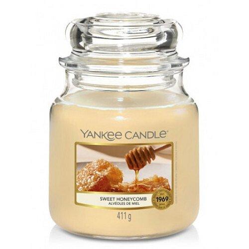 Yankee Candle Aromatická svíčka Classic střední Sweet Honeycomb  411 g