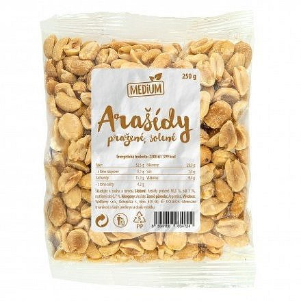 Arašídy pražené solené 250 g Medium