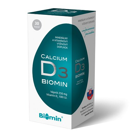 CALCIUM S VIT. D orální tobolky 30 Biomin