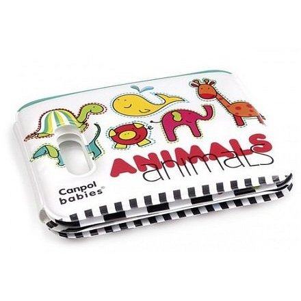 Měkká knížka pískací s úchytem Colourful Animals
