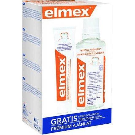 Elmex ústní voda 400ml + zubní pasta 75ml