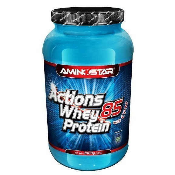 Aminostar Whey Protein Actions 85%, Strawberry, 2000g