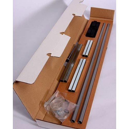 BABYDAN Prodloužení zábrany Premier 7cm, 2 ks, stříbrná,černé kování