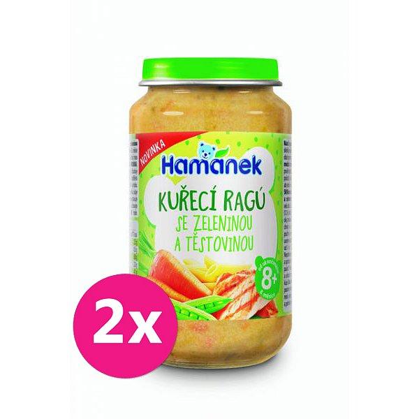 2x HAMÁNEK Kuřecí ragů se zeleninou a těstovinou 230 g