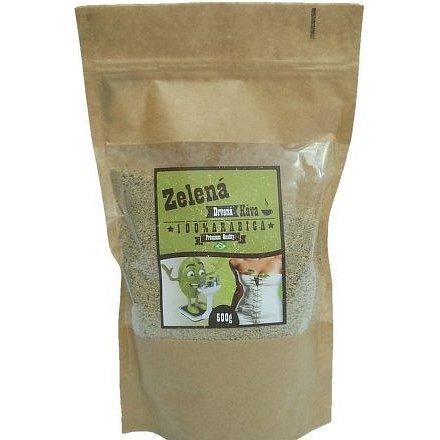Drcená zelená káva 100% arabica 500g