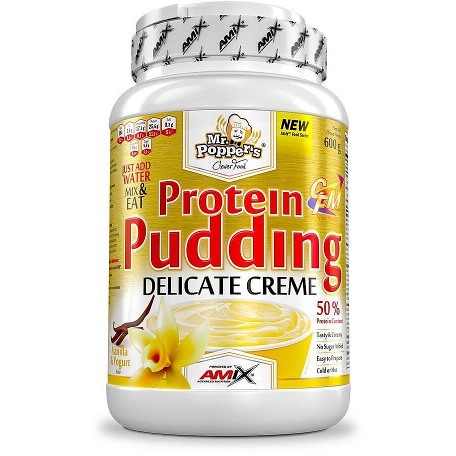 AMIX Mr. Popper's Protein Pudding Creme Vanilkový jogurt 600g