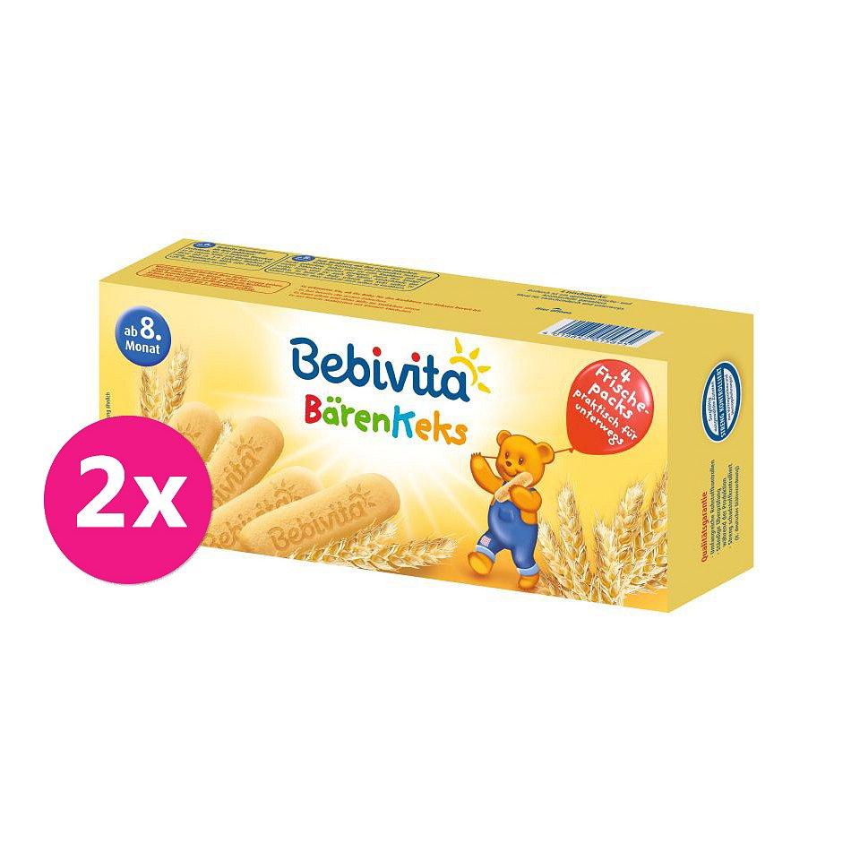 2x BEBIVITA Medvědí sušenky 180 g