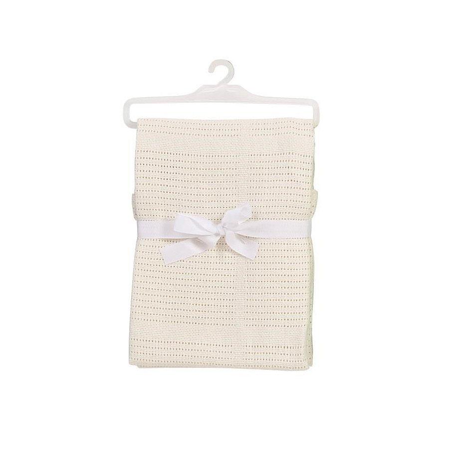 BABYDAN Dětská háčkovaná bavlněná deka béžová