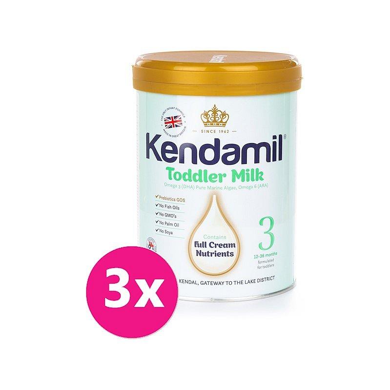 3x KENDAMIL Batolecí mléko 3 (900 g) nová receptura