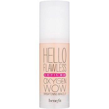 """Benefit Hello Flawless Oxygen Wow tekutý make-up SPF 25 odstín Champagne """"Cheers to Me""""  30 ml"""