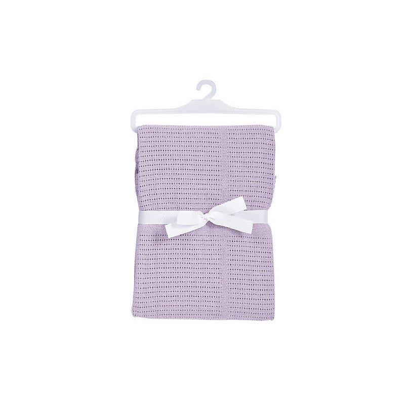 BABYDAN Dětská háčkovaná bavlněná deka lila