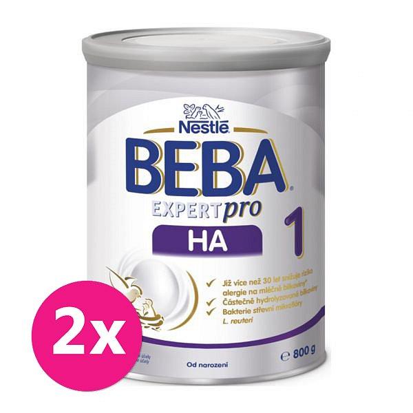 2x BEBA EXPERTpro HA 1, mléčná kojenecká výživa 800 g