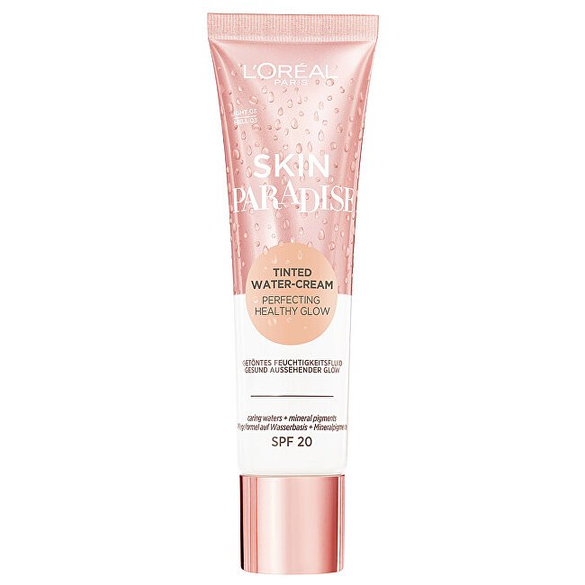 L´Oréal Paris Tónující krém Skin Paradise Tinted Water Cream SPF 20 01 Medium 30 ml