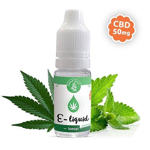 Zelená Země CBD e-liquid příchuť Konopí spearmint 10ml