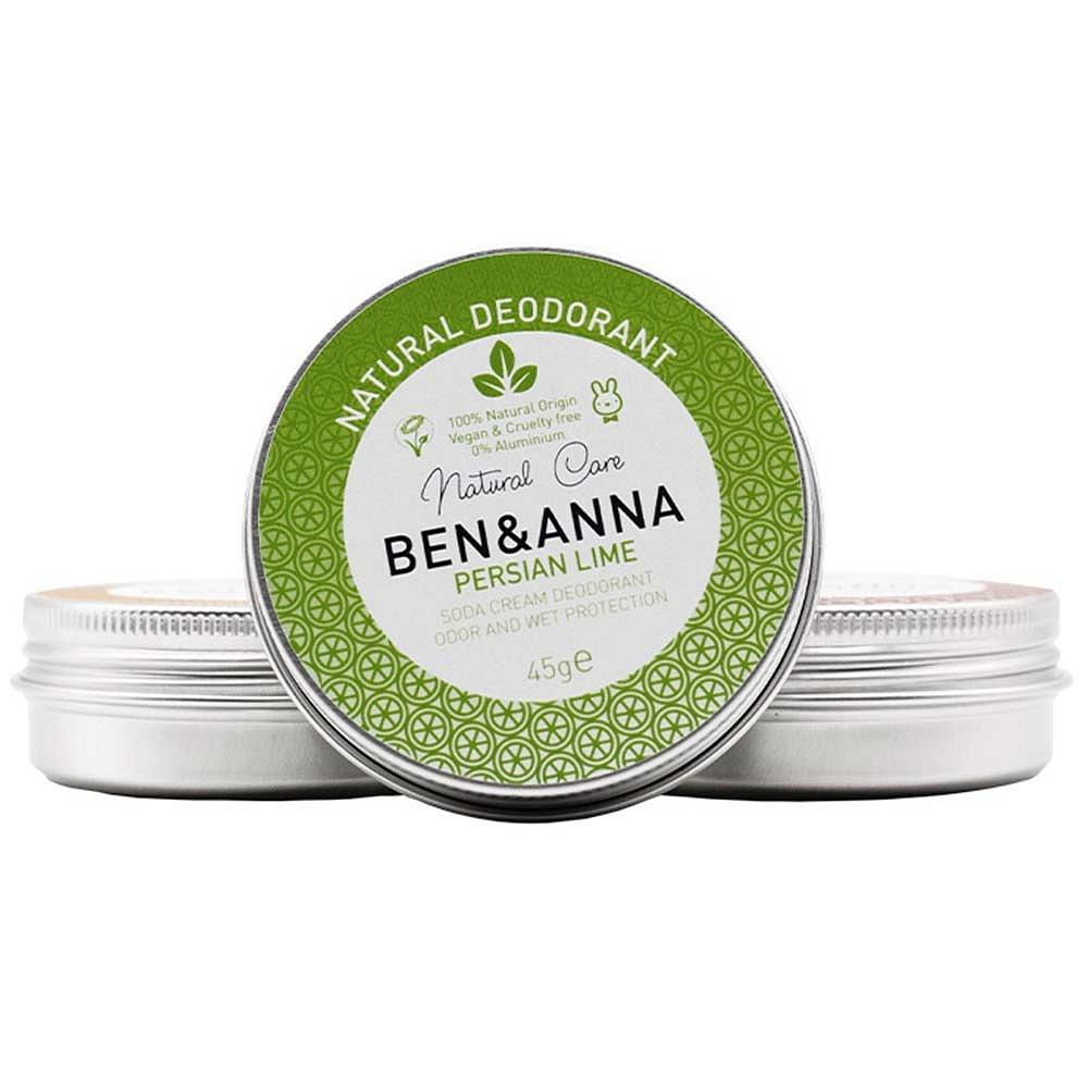 BEN&ANNA Tuhý deodorant v kelímku Perská limetka 45 g