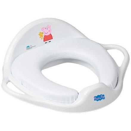 Dětské sedátko na WC měkké Peppa Pig white-pink