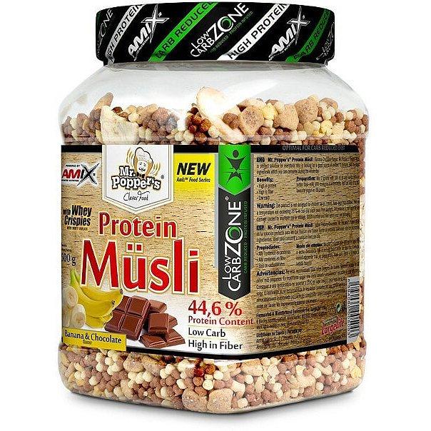 AMIX Mr. Popper ´s Protein Müsli, Banán-čokoláda, 500g