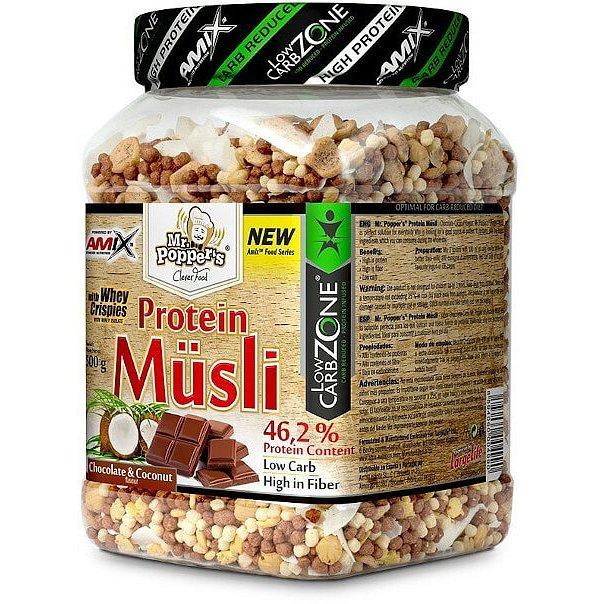 AMIX Mr. Popper ´s Protein Müsli, Čokoláda-kokos, 500g