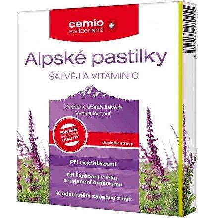 Cemio Alpské pastilky ŠALVĚJ a VITAMIN C pst.30+10