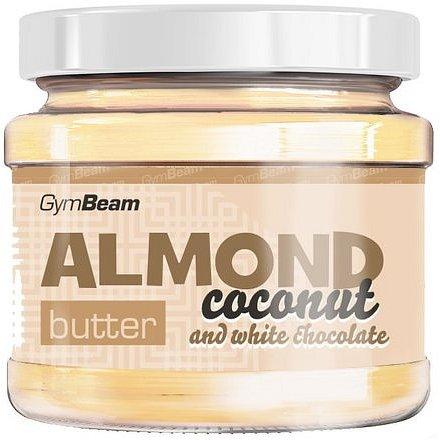 GymBeam Mandlové máslo kokos a bílá čokoláda 340g