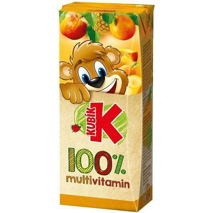 Kubík 100% multivitamin 200ml TP