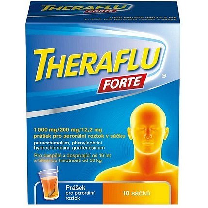 Theraflu Forte 1000mg/200mg/12,2mg prášek 10 ks