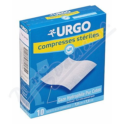 URGO Steril.komprese bavl.7.5x7.5cm 10sáčků á 2ks