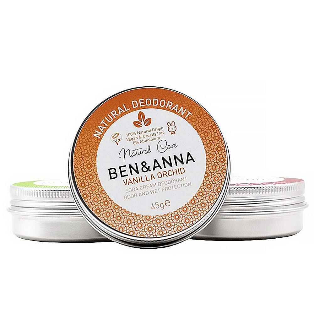 BEN&ANNA Tuhý deodorant v kelímku Vanilka a orchidej 45 g