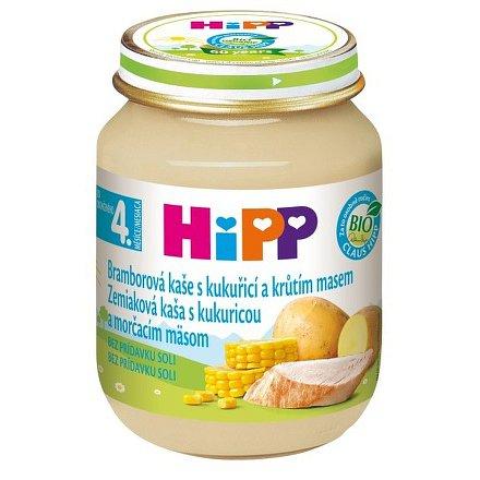 HIPP BABY MENU brambory s kukuřicí a krůtím masem125g