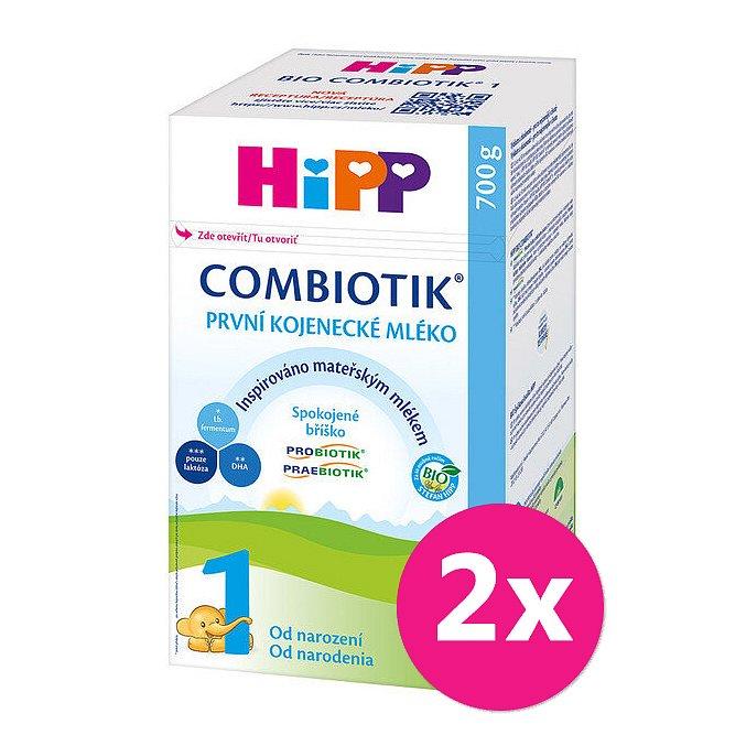 2x HiPP 1 BIO Combiotik - počáteční mléčná kojenecká výživa, 700 g