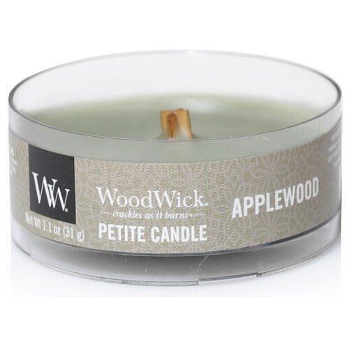 WoodWick Aromatická malá svíčka s dřevěným knotem Applewood 30 g
