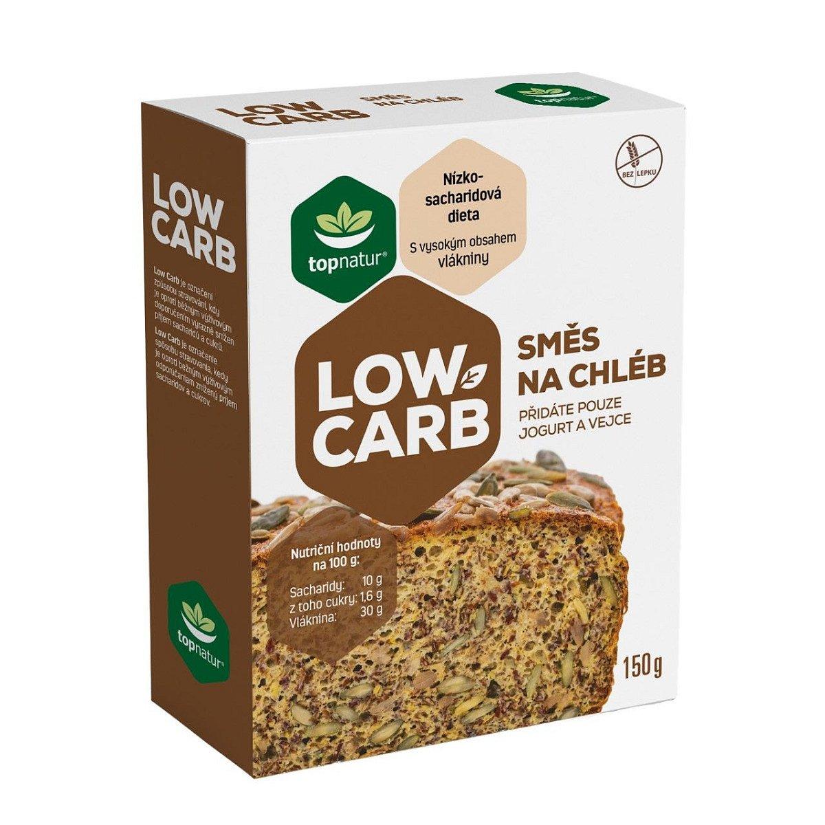 Topnatur Low Carb Směs na chléb 150 g