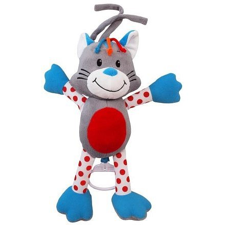 Dětská plyšová hračka s hracím strojkem Baby Mix kočička
