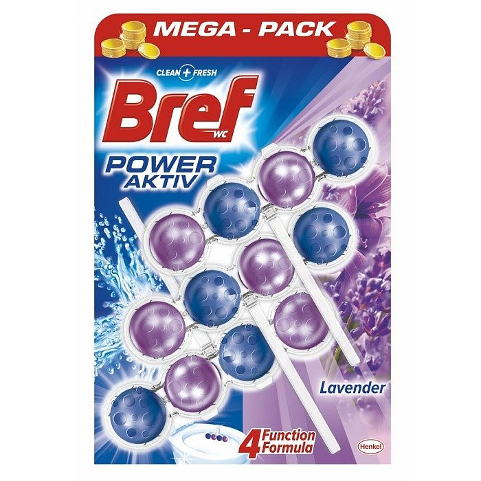Bref Power Aktiv WC blok, Lavender  3 x 50 g