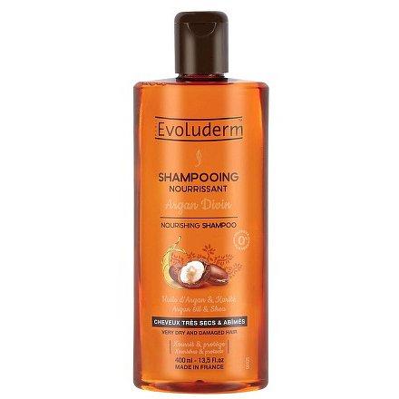 Evoluderm vyživující šampon pro velmi suché a poškozené vlasy s arganovým olejem 400 ml