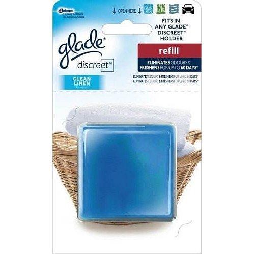 Osvěžovač vzduchu GLADE Discreet Clean Linen náhradní nápln 8 g